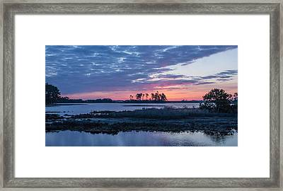 Chincoteague Wildlife Refuge Dawn Framed Print