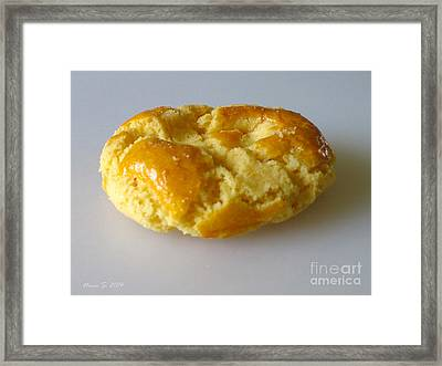 Framed Print featuring the photograph Chinese Almond Cookie by Nina Silver