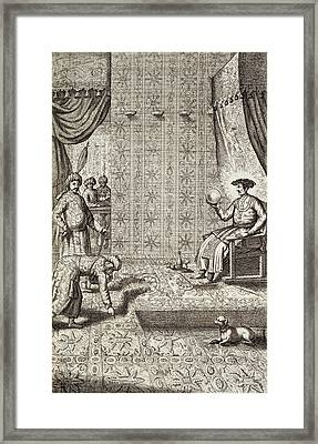 Chinese Ambassadors To An Indian Ruler Framed Print