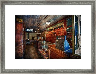 Chinese Apothecary Vintage Textures Framed Print by Eti Reid