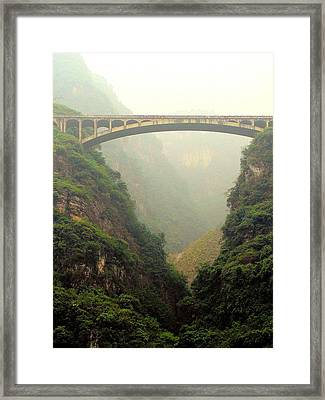 Chinese Bridge Framed Print