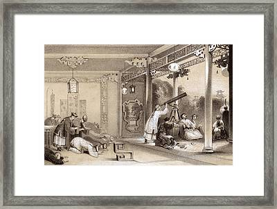 Chinese Ceremonies Performed  When An Framed Print by Mary Evans Picture Library