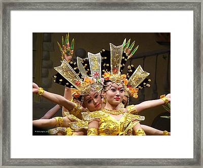 Chinese Dancers Perform Thousand Hands Guan Yin Framed Print