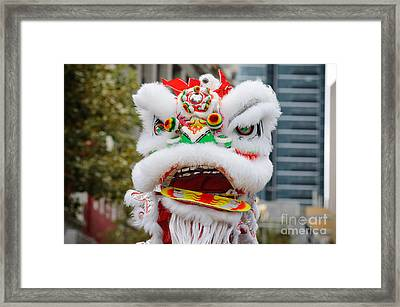 Chinese Dragon Rising Framed Print