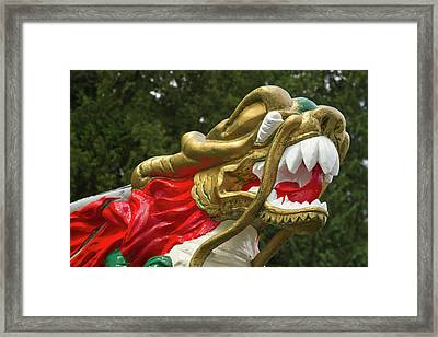 Chinese Dragonboat Figurehead, Stanley Framed Print by William Sutton