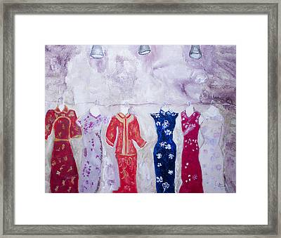Chinese Dresses Framed Print