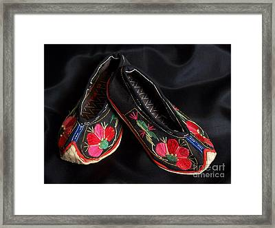Chinese Embroidered Baby Shoes Framed Print