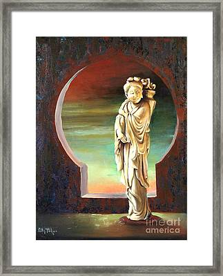 Chinese Fairy With A Basket Framed Print