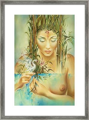 Chinese Fairytale Framed Print by Anna Ewa Miarczynska