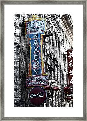 Chinese Food And Coca Cola Framed Print by Larry Butterworth
