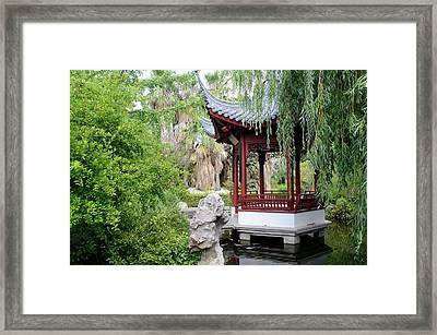 Chinese Garden Framed Print by Chris Hellier