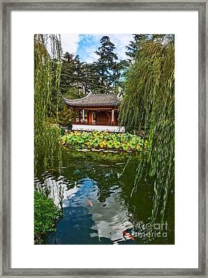 Chinese Garden Dream Framed Print by Jamie Pham