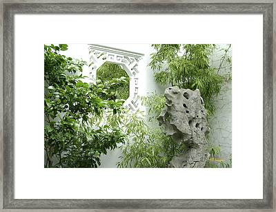 Framed Print featuring the photograph Chinese Garden by Margaret Buchanan