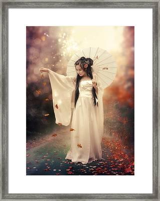 Chinese Girl Framed Print by Cindy Grundsten