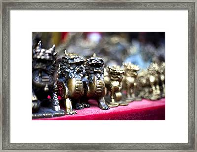 Chinese Guardian Lions Framed Print by SFPhotoStore