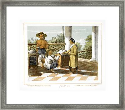 Chinese Hawkers Framed Print