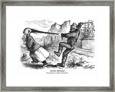 Chinese Immigrants, 1869 Framed Print by Granger