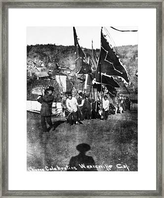 Chinese Immigrants, C1900 Framed Print