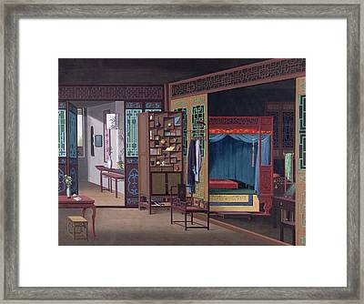 Chinese Interior Framed Print by British Library