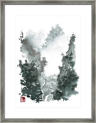 Chinese Landscape -mistyvalley Framed Print by Sean Seal