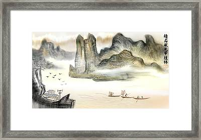 Chinese Landscape Painting Framed Print