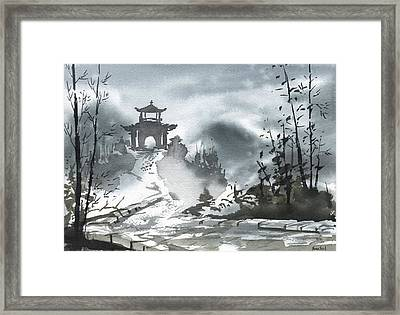 Chinese Landscape Framed Print by Sean Seal