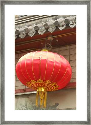 Framed Print featuring the photograph Chinese Lantern by Kay Gilley