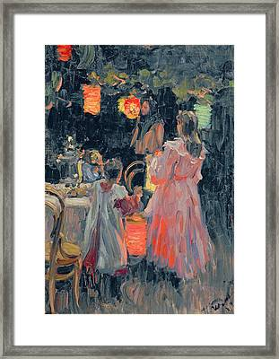 Chinese Lanterns Framed Print by Ivan Semyonovich Kulikov