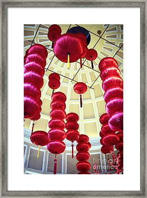 Chinese Lanterns Framed Print by John Rizzuto