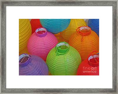Chinese Lanterns Framed Print by Ranjini Kandasamy