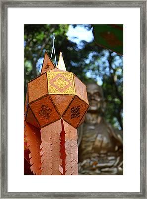 Chinese Lanterns - Wat Phrathat Doi Suthep - Chiang Mai Thailand - 01138 Framed Print by DC Photographer