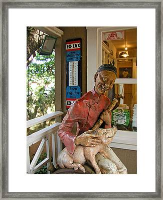Some Pig Framed Print by Jean Hall