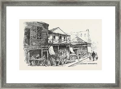 Chinese Market Sacramento Street, The Chinese Quarters, San Framed Print by American School