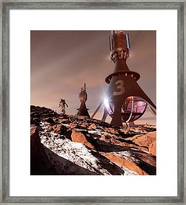 Chinese Mars Mission Framed Print by Detlev Van Ravenswaay