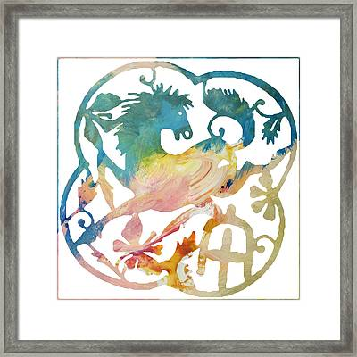 Framed Print featuring the digital art Chinese New Year 2014 Year Of The Horse by John Fish