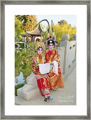 Chinese Opera Children - In Full Traditional Chinese Opera Costumes. Framed Print