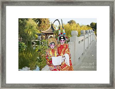Chinese Opera Children - Traditional Chinese Opera Costumes. Framed Print