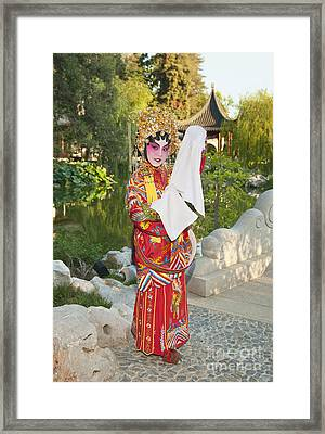 Chinese Opera Girl - In Full Traditional Chinese Opera Costumes. Framed Print