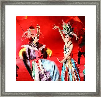 Chinese Opera Framed Print by  Jose Carlos Fernandes De Andrade
