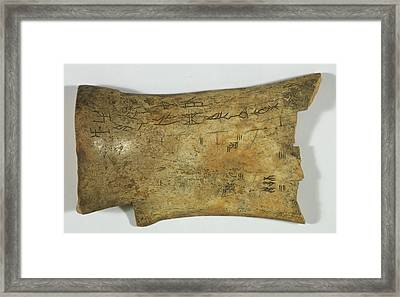 Chinese Oracle Bone Framed Print by British Library