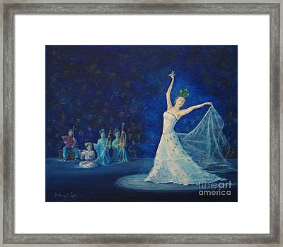 Chinese Peacock Dance-1 Framed Print