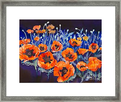 Poppies Pleasure And Pain Framed Print by Mike Hill