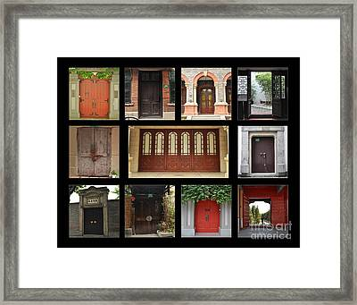 Chinese Portals Framed Print by Josephine Cohn