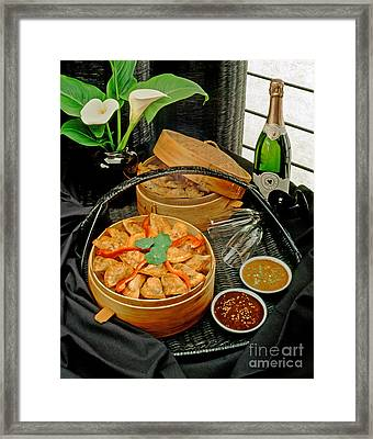 Chinese Potstickers Framed Print by Craig Lovell