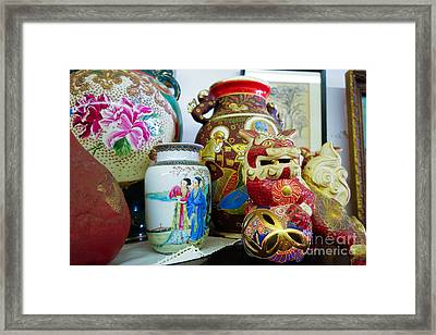 Chinese Pottery And Vases Framed Print by Amy Cicconi