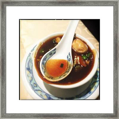 Chinese Soup Framed Print by Matthias Hauser