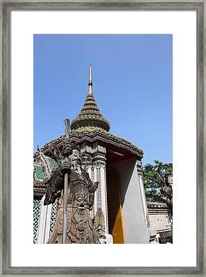 Chinese Statue Guards - Wat Pho - Bangkok Thailand - 01131 Framed Print