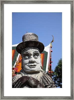 Chinese Statue Guards - Wat Pho - Bangkok Thailand - 01134 Framed Print