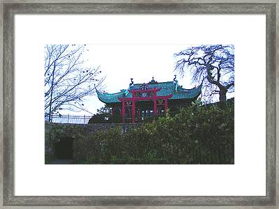 Chinese Tea House Framed Print by Brooks Garten Hauschild