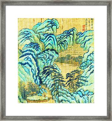 Chinese Teahouse 1730 Framed Print by Padre Art